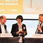 v.l.n.r. Hans Peter Schneider, Raphaela Dell, Thomas Arabin (c) M3B GmbH_Steffen Giersch