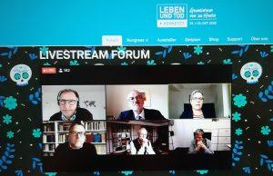 LEBEN UND TOD: Screenshot der Diskussion über Sterbehilfe 2020/Freiburg